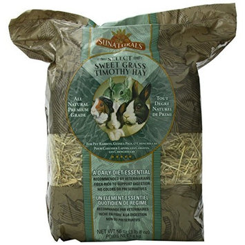 Sunseed Company Sun Seed Company SSS88052 3-Pack Sunnatural Select Sweet Grass Small Animal Timothy Hay, 56-Ounce