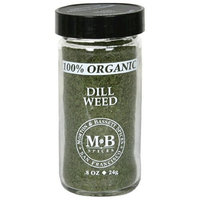 Morton & Bassett Organic Dill Weed, .8-Ounce Jars (Pack of 3)