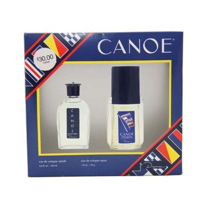Canoe By Dana For Men. Set-cologne Spray 1.8 Ounces & Eau De Cologne 2 Ounces