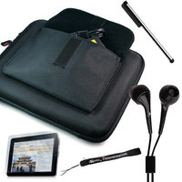 Premium anti-slip high quality Hard Nylon Cube Case with Pocket for Apple iPad 3G tablet / Wifi model 16GB, 32GB, 64GB. Apple iPad Accessories+ Includes a 4-inch eBigValue (TM) Determination Hand Strap + Anti-Glare screen protector for iPad Tablet ( All Models ) + Premium Quality Metal Stylus Styli for Apple iPad + Fashion Earbud Headset Headphones 3.5mm In-Ear Stereo ( Black )