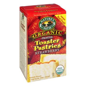 Nature's Path Organic Frosted Toaster Pastries Strawberry Flavor