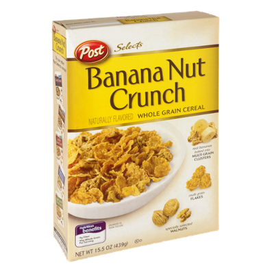 Post Selects Banana Nut Crunch Whole Grain Cereal