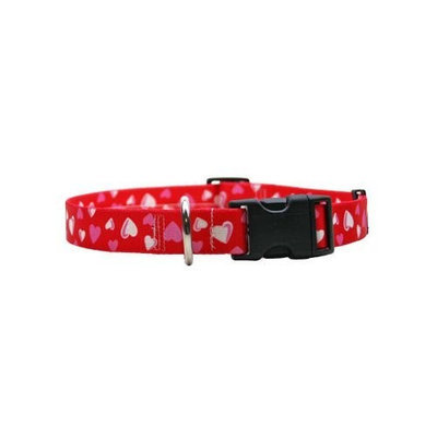 Yellow Dog Design RH100TC Red Hearts Standard Collar - Teacup