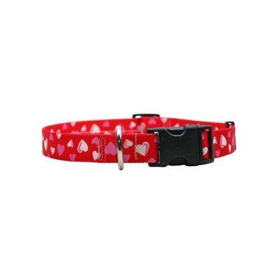 Yellow Dog Design RH100TC Red Hearts Standard Collar - Teacup