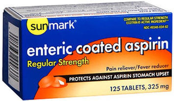 Sunmark Enteric Aspirin, 325 mg, 125 tabs by Sunmark