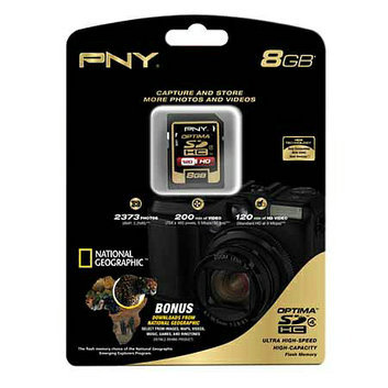 PNY 8GB Optima Secure Digital High Capacity (SDHC) Class 4