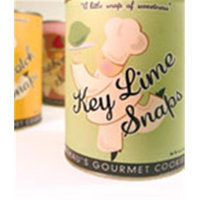 Flathau's Fine Foods Flathaus Fine Foods 4412 6 oz. Can Snaps - Key Lime Cookies - Pack of 12