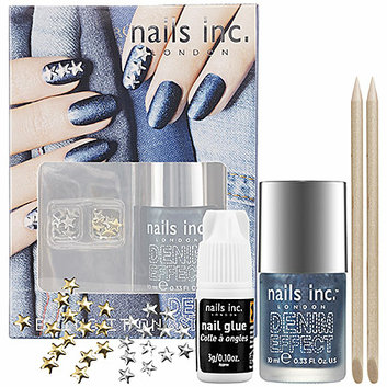 nails inc. Bling It On Denim and Studs