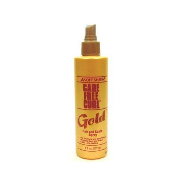 Care Free Curl Gold Hair/Scalp Spray 8 oz. (3-Pack) with Free Nail File