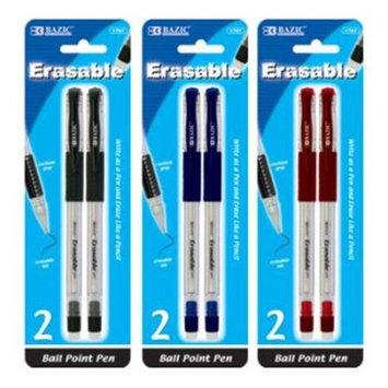 BAZIC Erasable Pen (2/Pack).(Case of 144)