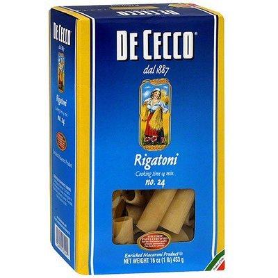 De Cecco Rigatoni Pasta, 16 oz (Pack of 10)