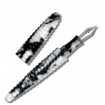 Acme Studios P2H05F Black And White Rings Fountain Pen