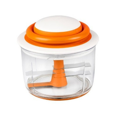 Boon Mush Manual Baby Food Processor, Tangerine (Discontinued by Manufacturer)