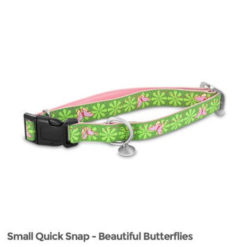 Premier Bark Avenue Quick Snap Collar / Size (10-16 in / Butterflies)