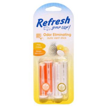 Refresh Your Car Pina Colada/Mango Mandarin Auto Vent Sticks - 4 pack