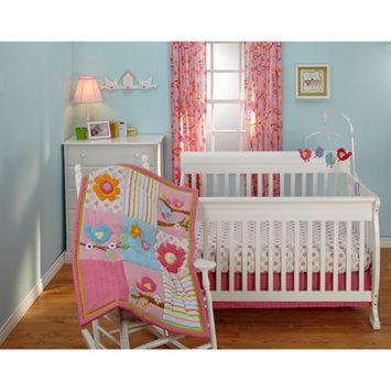 Little Bedding by NoJo Sweet Lil Birds 3-Piece Crib Bedding Set
