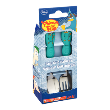 Zak Phineas and Ferb Easy Grip Flatware