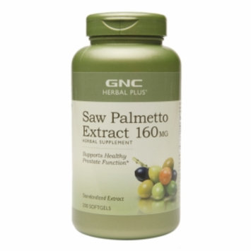 Gnc GNC Herbal Plus Saw Palmetto Extract 160mg, Softgels, 200 ea