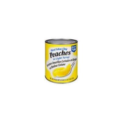 Better Valu Sliced Yellow Cling Peaches in Light Syrup (Case of 12)