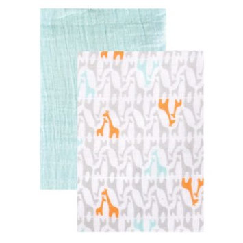 Baby Vision Yoga Sprout 2 Pack Muslin Swaddle Blankets - Giraffe