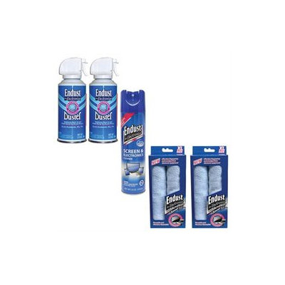 Endust 096000 Anti-static Multi Surface Cleaner, 246050 Electronics Duster 114
