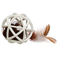 Our Pets Our Pet's Play-N-Squeak Twinkle Ball of Furry Fury Cat Toy