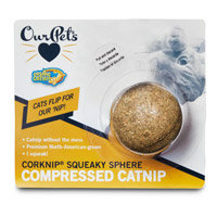 Our Pets Corknip Squeaky Sphere Cat Toy