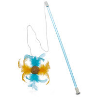 OUR PETS Cosmic Catnip Corknip Feather Frenzy Wand