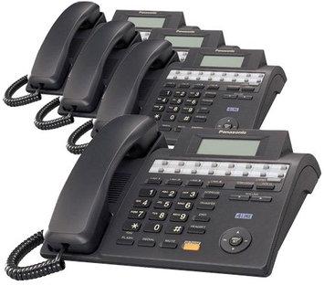 Panasonic KX-TS4100B (4 Pack) 4 Line Integrated Phone System w/ Speake