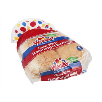 Wonder Hamburger Buns Classic White - 8 CT