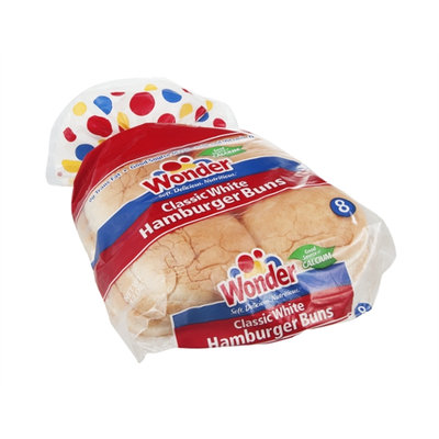 Wonder Hamburger Buns Classic White - 8 CT