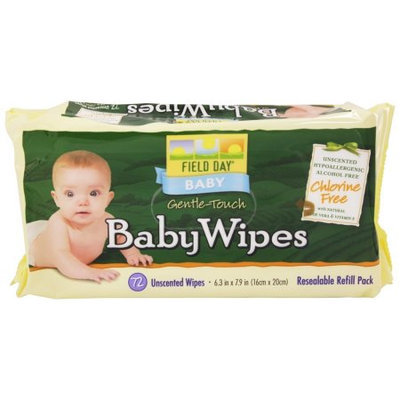 Field Day - Eco-Friendly Baby Wipes Resealable Refill Pack Unscented - 72 Wipes