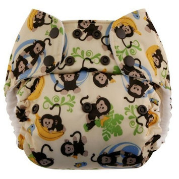 Swaddlebees One Size Simplex All In One Diapers, Monkeys (Discontinued by Manufacturer)