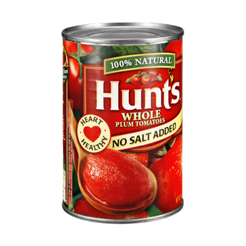 Hunt's 100% Natural No Salt Added Whole Plum Tomatoes
