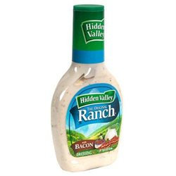 Hidden Valley Original Ranch Salad Dressing Bacon Ranch, 16 Fluid Ounces