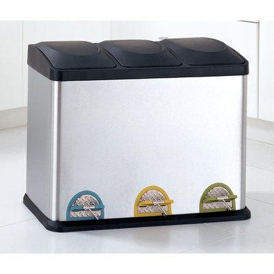 Organize It All 4903 Stainless Steel Recycling Bin