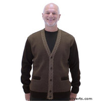 Silvert's Silverts 503100103 Handsome Quality Cardigan Sweater with Pockets for Men Coffee - Large