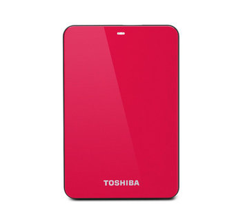 Toshiba Canvio Connect 2TB Portable External Hard Drive, Red
