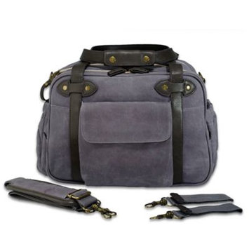 SoYoung Special Edition Charlie Diaper Bag - Waxed Charcoal with Brown Handles by SoYoung