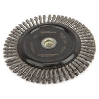 Forney 72851 Wire Wheel Brush Industrial Pro Stringer Bead Twist Knot with 5/8-Inch-11 Threaded Arbo