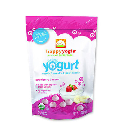 Happy Baby Happy Yogis Strawberry and Banana Organic Yogurt Snacks - 1 Ounce Pouch