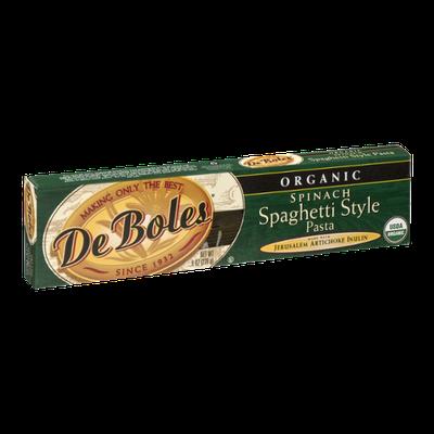 De Boles Organic Spinach Spaghetti Style Pasta