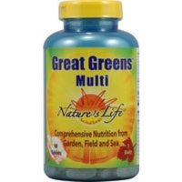 Nature's Life Great Greens Multi Tablets, 90 Count