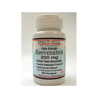 Protocol For Life Now Foods Protocol Resveratrol 200mg Extra Strength 60c