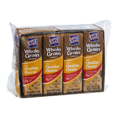 Lance Fresh Real Cheddar Cheese Whole Grain Crackers 8 Pack