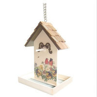 Home Bazaar Printed Fruit Feeder Pattern/Color: Robins with Gold Trim