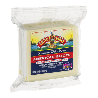 Land O'Lakes Premium Deli Cheese American Slices White