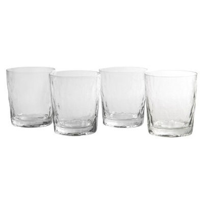 Artland Ripple Double Old Fashioned Glass Set of 4 - Clear (13 oz)