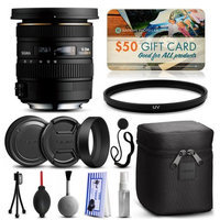 47th Street Photo Sigma 10-20mm F3.5 EX DC HSM Lens for Pentax (202109) with Starter Accessories Package includes UV Ultraviolet Filter + Deluxe Cleaning Kit + Air Dust Blower + Cap Keeper + $50 Prints Gift Card