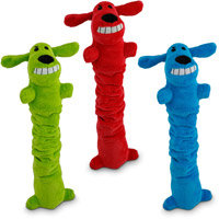 Petco Plush Bungee Loofa Dog Toy with Crinkle, 14 Length